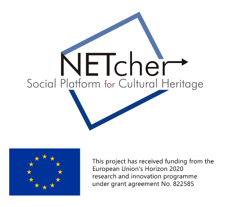 NETcher. Social Platform for cultural heritage. This project has received funding from the European Union's Horizon 2020 research and innovation programme under grant agreement N. 822585