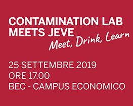 Contamination Lab meets JEVE. 25/09/2019 ore 17:00 presso BEC