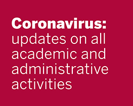 Coronavirus: updates on all academic and administrative activities